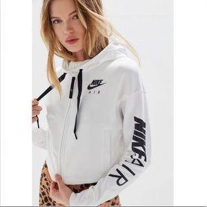 Nike Air Fleece Zip Crop Hoodie